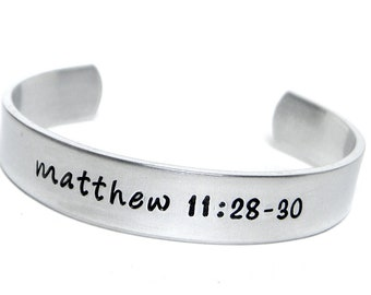 Childs Personalized ALUMINUM cuff bracelet - hand stamped jewelry