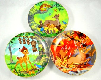 Walt Disney Bambi First Edition Collector Plates from 1980s