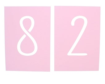 Modern Blush Pink Laser Cut Reception Table Number Cards