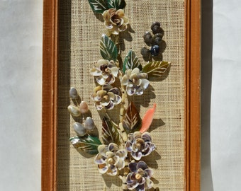 Floral Shell Framed Wall Picture