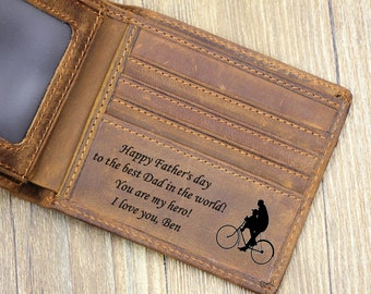 Father's Day gift, Personalized Mens Wallet, Custom Father's Day Wallet, Engraved Wallet, Personalized Wallet,Monogrammed Wallet,Father Gift