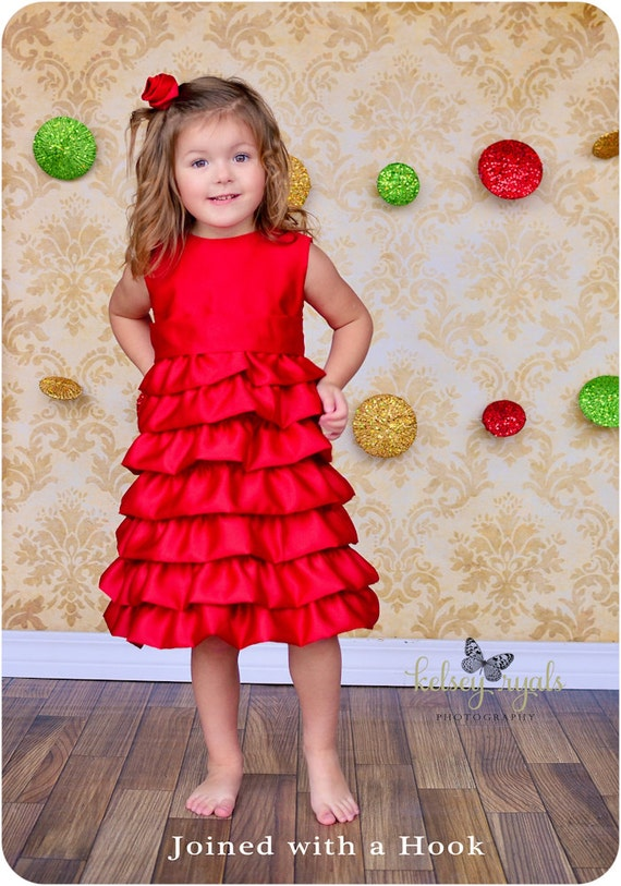 Vivienne Party Dress: Ruffle Dress Pattern Christmas Dress
