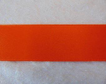 Satin ribbon, double sided, orange (S - 219)