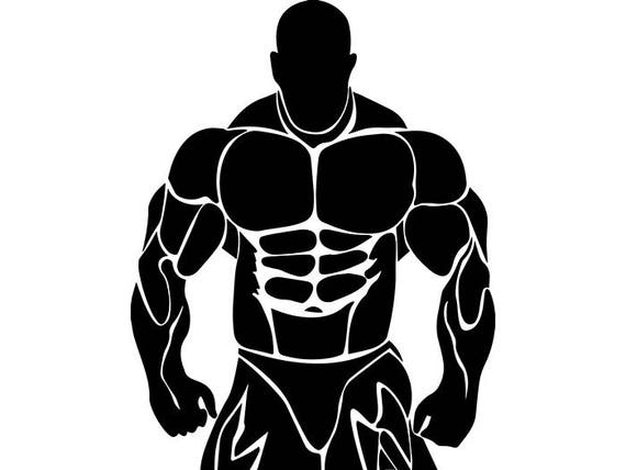 Bodybuilder 21 Bodybuilding Logo Front Pose Weightlifting