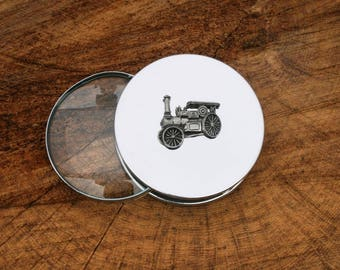 Steam Engine Design Portable Magnifying Reading Glass Desktop Farming Gift