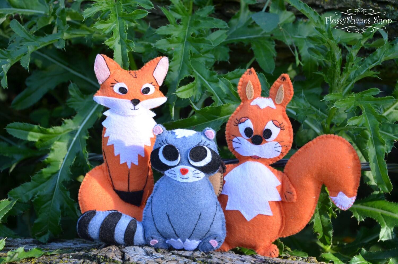 Felt animals sewing pattern pdf stuffed fox pattern felt zoom jeuxipadfo Image collections