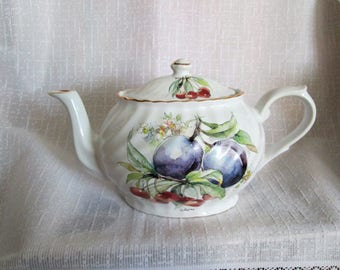 Beautiful Arthur Wood Teapot with Artist Signature made in Staffordshire  England