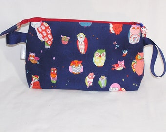 Spotted Owls in Navy Tall Mia Bag