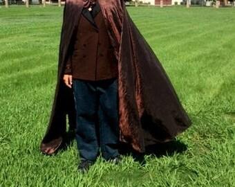 Renaissance Cloak Long Cloak Mens Cloak Womens Cloak Medieval Cloak Ren Faire Cloak Long Cape Elven Cloak Brown Cloak Circle Cloak