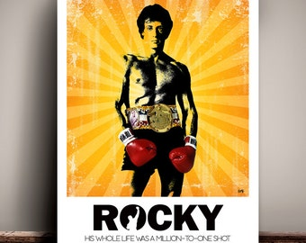 Rocky // Sylvester Stallone // Movie Poster // Unique Art Print