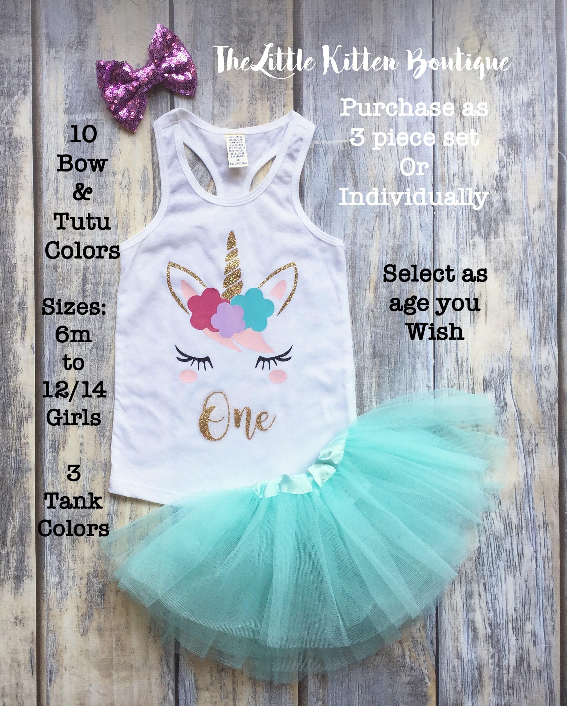 Unicorn Shirt, Unicorn, Girls Birthday Shirt, Girl\'s First Birthday ...