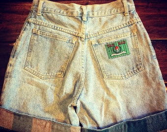 Vintage High Waisted Denim Shorts 80's-90's size 7