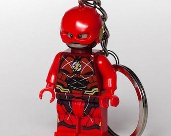 The Flash minifigure Handmade Keychain DC Comics Superhero Key Chain