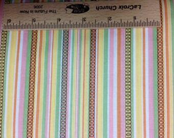 Jenean Morrison fabric Moondance Quasar narrow stripe fabric JM06 Pink Sewing/Quilting free spirit 100% cotton fabric by the yard