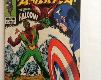 Captain America  1968 117 First Appearance of Falcon and Redwing GD 3.0