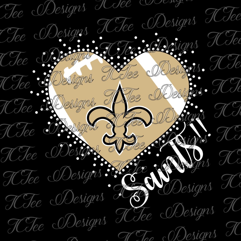 Saints Heart - New Orleans Saints - Mixed Media - Rhinestone ...
