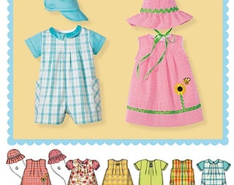 BABY CLOTHES PATTERN / Make Dress - Romper - Hat / Boy - Girl / Preemie to 24 pounds