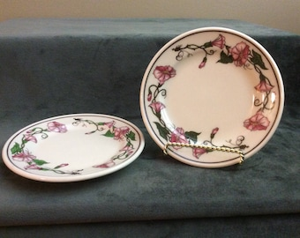 Shenango China Morning Glory Childs Teaset Plates, Shanango China New Castle, PA USA Anchor Hocking AB41, Dessert Plates