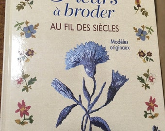 Flower embroidery book