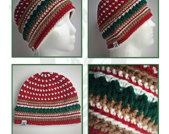 Country Mountain Pines Warm Winter Beanie Crochet Pattern