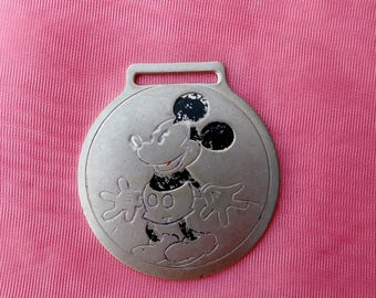 Vintage 1930s Mickey Mouse Watch Fob Original 30s Ingersoll Pocket Watch Piece