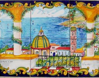 Vietri Sul Mare Italy Hand Painted Mosaic Tiles Original