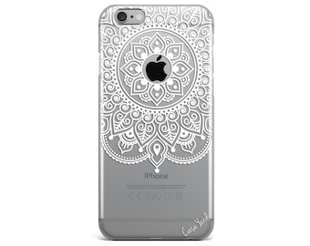 iPhone 8 Case Clear iPhone 8 Plus Case iPhone X Case iPhone 7 Plus case Clear iPhone 7 Case iPhone 6 Case Samsung S8 Case,Apple Mandala