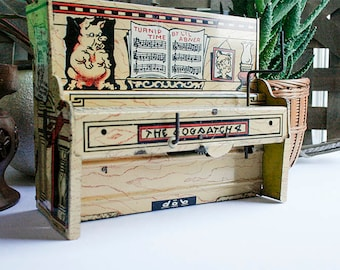 Li'l Abneer Piano, Tin Lithographed Wind-up Toy