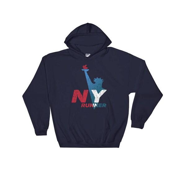 New York Runner Hooded Sweatshirt - Run New York - Hoodie - Heavy Sweatshirt