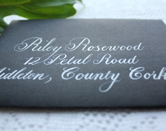 Custom Envelope Calligraphy Addressing, Handwritten, Weddings and Special Events