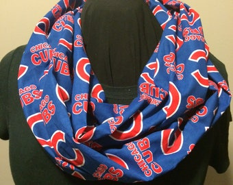 MLB Baseball Chicago Cubs Cotton Infinity Scarf