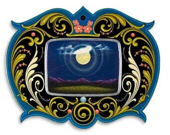 Miss Moon - Poster - Sign painting, fileteado
