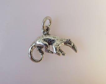 ANTEATER .925 Sterling Silver 3-D Charm Aardvark Pendant New an13
