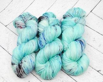 Squid Ink - Hand-dyed Superwash Sock Yarn.