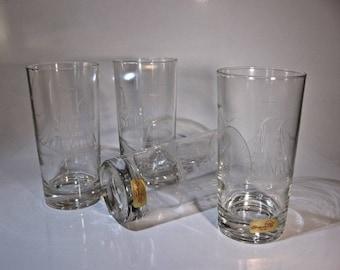 Set Of Four Susquehanna Cut Crystal tumbler Glasses