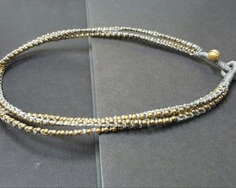 Gray  Brass Necklace