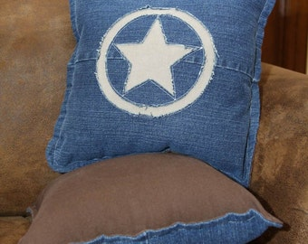 One Pair Recycled Denim Jeans Pillows - Texas Star Design