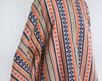1960s/70s Bohemian Knit Poncho