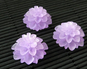 Purple Mum Flower Refrigerator Magnets. Set of Three. Lavender Flower Magnets. Purple Fridge Magnets. Office Magnets. Handmade Home Decor.
