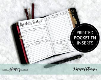 Financial Planner Travelers Notebook | Budget Tracker Insert | No2/Pocket Size TN Inserts