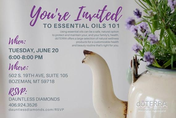 doTERRA Class Invitation Lavender I