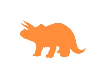 Dinosaurs, Triceratops, Iron On Transfer, Transfer Decal, Heat Transfer, Kids shirt, Boys shirt