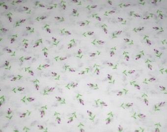 Purple Rosebud Sheer Fabric
