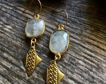 Replacement Earring for Elizabeth  Moonstone Earrings