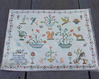 1960's Pennsylvania Dutch Paper Placemats by Martha Houghling Set of 8