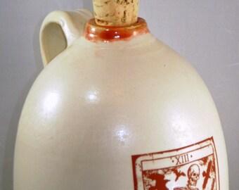 Le Mort tarot beer growler ceramic handmade