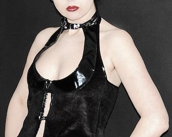 Faux fur vest Gothic