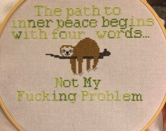 Inner Peace cross stitch