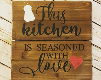 Seasoned with Love Sign