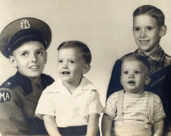 1951 Vintage Photo Four Boys from Atlanta